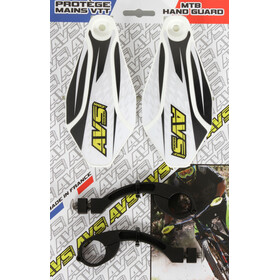 AVS Racing Kit protection mains, white/black